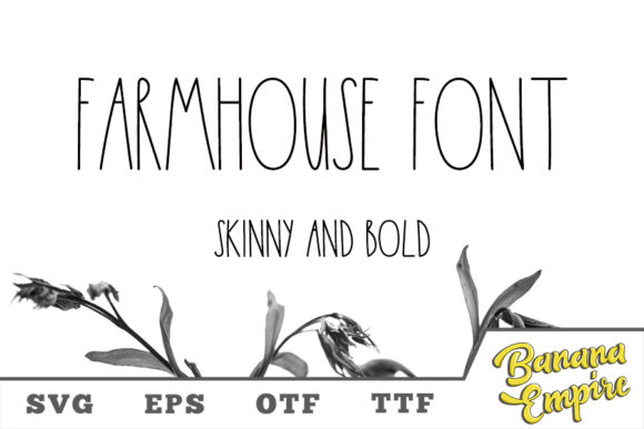Print on Demand: Farmhouse Script & Handwritten Font By Banana Empire