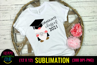 Gnome Graduate Class of 2021- Graduation Graphic Crafts By Happy Printables Club
