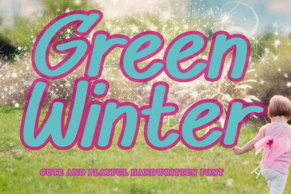 Print on Demand: Green Winter Display Font By scratchetch
