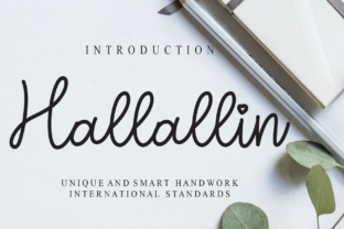 Print on Demand: Hallallin Script & Handwritten Font By andikastudio