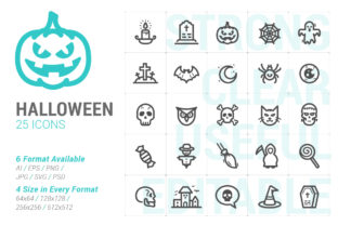 Halloween Strong Line Icon Graphic Icons By Ctrl[A]Studio