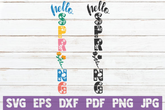 Hello Spring Graphic Crafts By MintyMarshmallows
