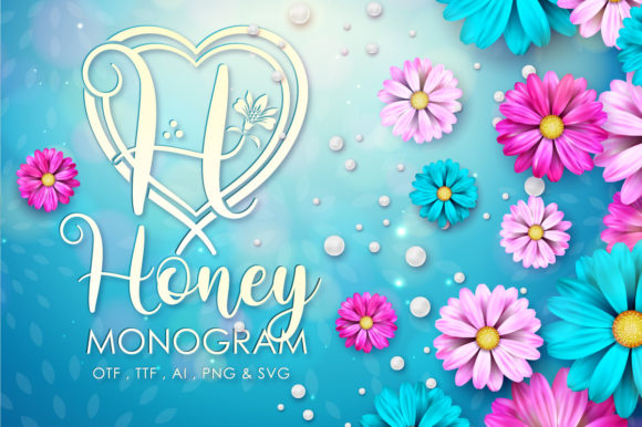 Print on Demand: Honey Monogram Decorative Font By Almeera Studio