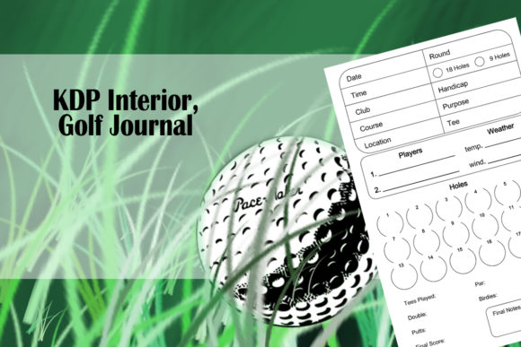 Print on Demand: KDP Interior || Golf Journal Graphic KDP Interiors By Designs_by_Shorty