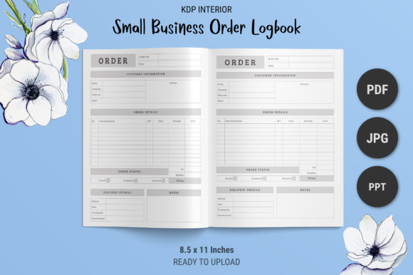 Print on Demand: KDP Small Business Order Logbook Graphic KDP Interiors By The Low Content Bookshelf