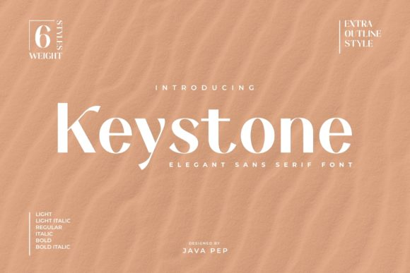 Print on Demand: Keystone Sans Serif Font By JavaPep