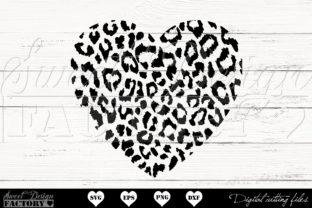 Print on Demand: Leopard Heart SVG Graphic Crafts By SweetDesignFactory