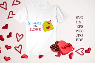 Print on Demand: Letter Hearts with Quote Share the Love Graphic Illustrations By JulijaArtStudio
