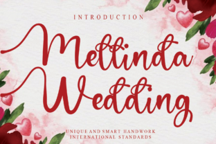 Print on Demand: Mellinda Wedding Script & Handwritten Font By andikastudio