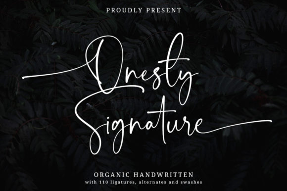 Print on Demand: Onesty Signature Script & Handwritten Font By Typesthetic Studio