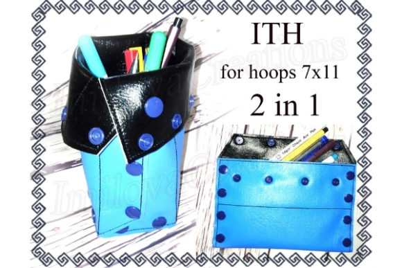 Pencil Case in the Hoop Sewing & Crafts Embroidery Design By ImilovaCreations
