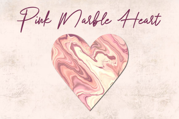 Pink Marble Heart Clipart.Valentines Day Graphic Illustrations By Art's and Patterns