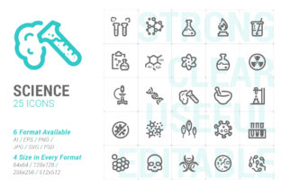 Science and Virus Strong Line Icon Graphic Icons By Ctrl[A]Studio