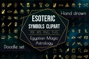 Spiritual Sacred Magic Elements Astrology Graphic Icons By AlenserArt
