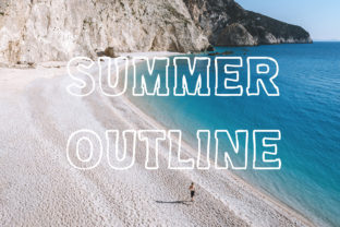 Print on Demand: Summer Outline Display Font By Vladimir Carrer