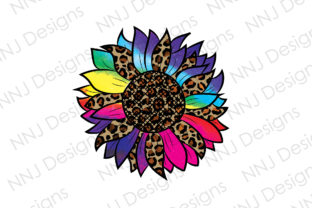 Print on Demand: Tie Dye Leopard Sunflower Sublimation Graphic Illustrations By NNJ Designs
