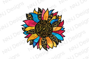 Print on Demand: Tie Dye Sunflower Sublimation Designs Graphic Illustrations By NNJ Designs