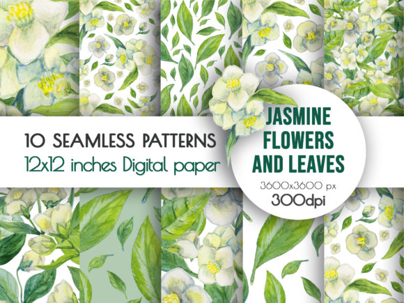 Watercolor Flowers Seamless Pattern Graphic Backgrounds By AlenserArt