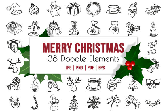 Winter Christmas Vector Illustrations Graphic Icons By AlenserArt