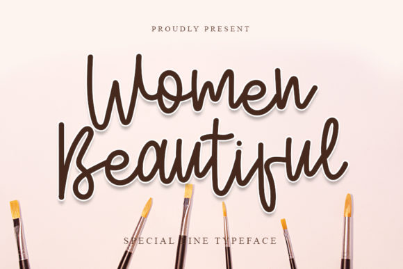 Print on Demand: Women Beautiful Script & Handwritten Font By NYA Letter