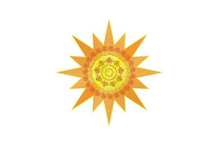Print on Demand: Yellow-Orange Sun Summer Embroidery Design By EmbArt