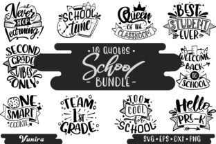 Print on Demand: 10 School Bundles - Lettering Quotes Graphic Crafts By Vunira