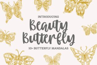Print on Demand: 13 Beauty Butterfly Mandalas Graphic Crafts By goodjavastudio