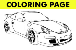 Print on Demand: Car Vehicle Coloring Book Page (V3) Graphic Coloring Pages & Books By Mah Moud