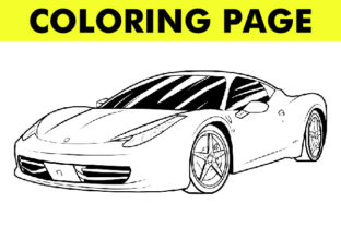 Print on Demand: Car Vehicle Coloring Book Page (V7) Graphic Coloring Pages & Books By Mah Moud