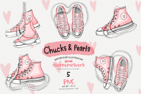 Chucks and Pearls Sublimation Bundle Graphic Crafts By Chonnieartwork