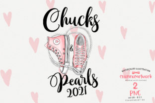 Print on Demand: Chucks and Pearls Sublimation Graphic Crafts By Chonnieartwork