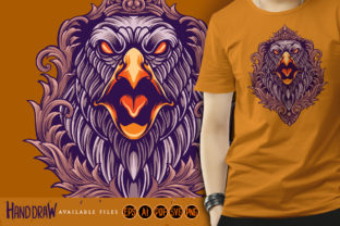 Print on Demand: Eagle Angry Ornaments Illustrations Graphic Illustrations By artgrarisstudio