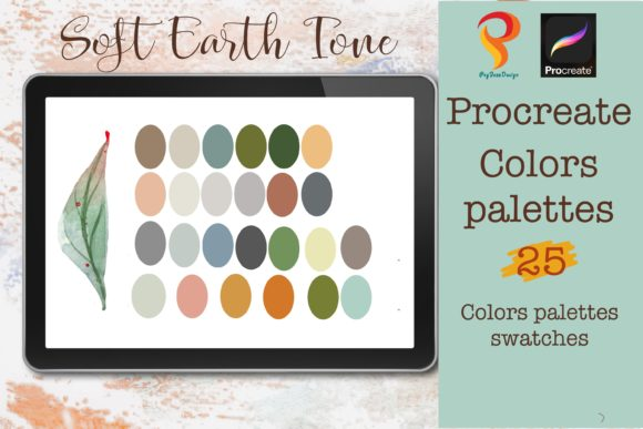 Earth Tone  Procreate Color Palettes Graphic Add-ons By PoyJazz
