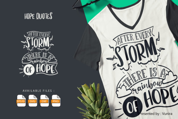 Print on Demand: Hope - Motivational | Lettering Quotes Graphic Crafts By Vunira
