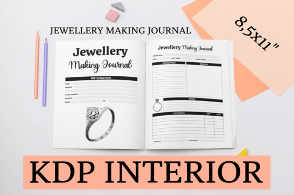 Print on Demand: Jewellery Making Journal | KDP Interior Graphic KDP Interiors By KDP Mastermind