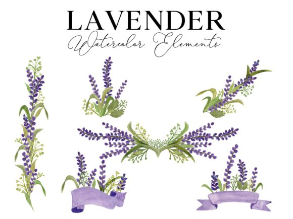 Lavender Graphic Web Elements By Monogram Lovers
