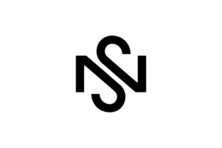 Print on Demand: Letter SN NS Logo Design Simple Vector Graphic Logos By vectoryzen