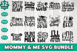 Print on Demand: Mommy & Me Svg Bundle Graphic Crafts By PrintableSvg
