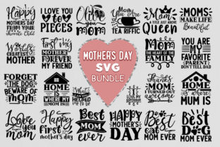 Print on Demand: Mother's Day Svg Bundle Graphic Crafts By PrintableSvg