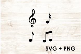 Print on Demand: Music Musical Clef Quaver SVG Graphic Print Templates By Too Sweet Inc