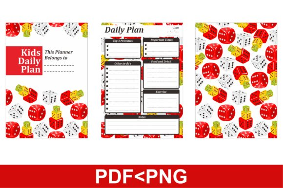 Print on Demand: Simple KDP with Dice Patterns Theme Grafik KPD Innenseiten von Arief Sapta Adjie