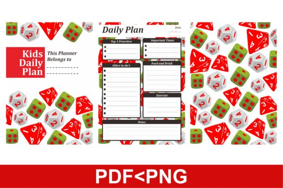 Print on Demand: Simple KDP with Dice Patterns Theme Graphic KDP Interiors By Arief Sapta Adjie