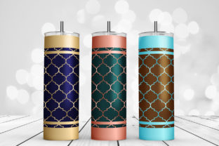 Print on Demand: Skinny Tumbler Moroccan Trellis Wraps Graphic Backgrounds By DTCreativeLab