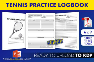 Print on Demand: Tennis Practice Log Book | KDP Interior Graphic KDP Interiors By Beast Designer