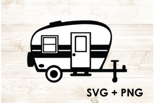 Print on Demand: Trailer Camping Hiking Outdoors SVG Graphic Print Templates By Too Sweet Inc
