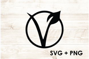 Print on Demand: Vegan Vegetarian Symbol Logo SVG Graphic Print Templates By Too Sweet Inc