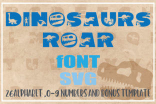 Print on Demand: DINOSAURS ROAR Alphabet and Number SVG Graphic Crafts By KtwoP