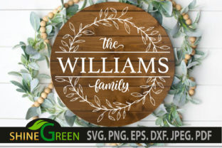 Print on Demand: Farmhouse Style Family Monogram, Wedding Graphic Crafts By ShineGreenArt