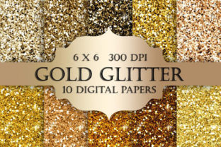 Gold Glitter Digital Paper Graphic Textures By ItGirlDigital