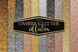 Gold Ombre Glitter Textures Graphic Textures By ItGirlDigital